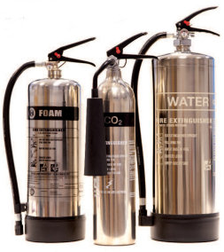 Chrome Fire Extinguishers
